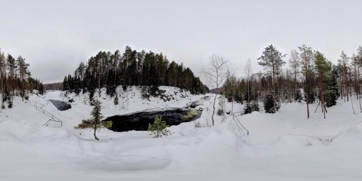 Водопад Кивач - вид 1