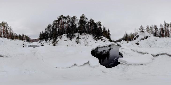 Водопад Кивач - вид 2